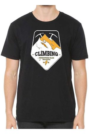 Eco Canyon Homem Manga Curta - Camiseta de Algodão Masculina Climbing