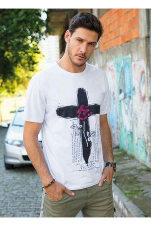 Queima Estoque Camiseta Branca com Estampa