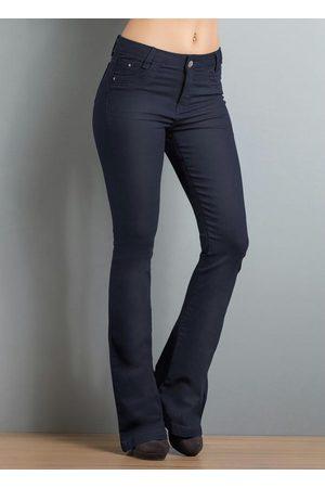 Janine Calça Flare Jeans Escuro