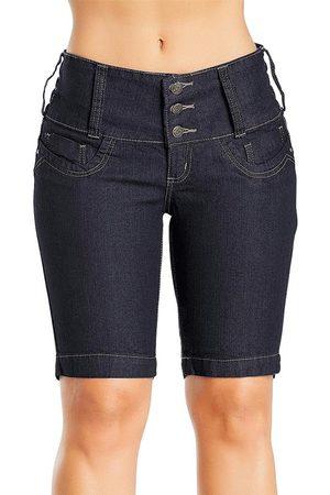 Janine Mulher Bermuda - Bermuda Jeans Feminina