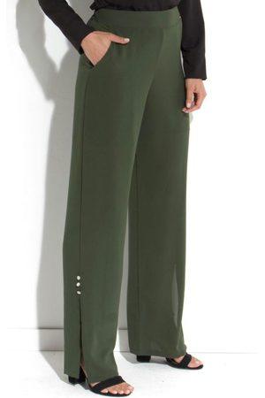 QUEIMA ESTOQUE Mulher Calças Cargo - Calça Militar com Fenda