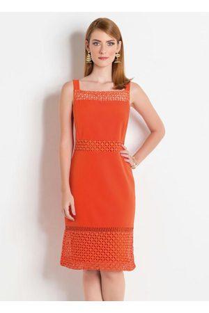 Multimarcas Mulher Vestido Médio - Vestido com Detalhes Transparentes