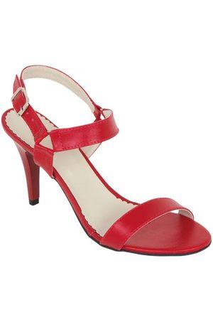 QUEIMA ESTOQUE Mulher Sandálias - Sandália Vermelha com Salto Fino
