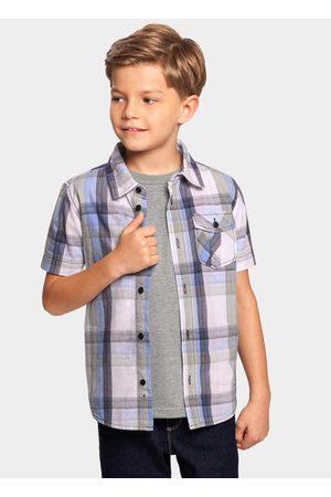 Alakazoo Menino Camisa Manga Curta - Camisa Tecido Tricoline