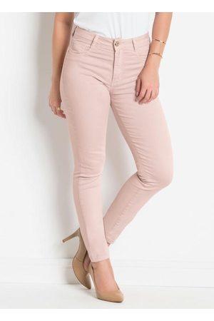 Sawary Jeans Mulher Calça de Alfataria - Calça em Sarja Sawary Modelo Hot Pants Rosê
