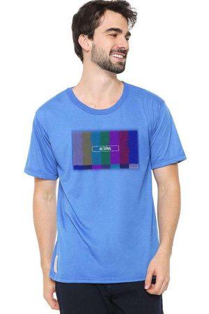 Eco Canyon Homem Manga Curta - Camiseta Masculina no Signal Blue