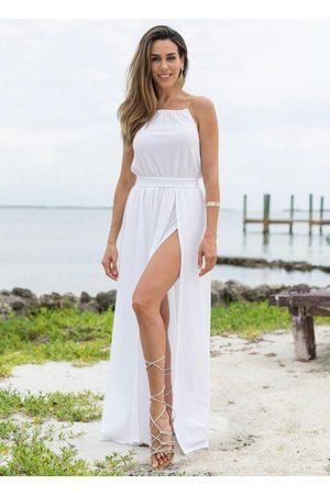 QUEIMA ESTOQUE Mulher Vestido Longo - Vestido com Fendas