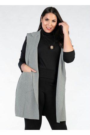 Mink Mulher Colete - Colete Plus Size Alongado