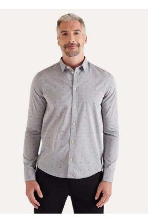 Reserva Homem Camisa Casual - Camisa Ml Jacquard Gaivota