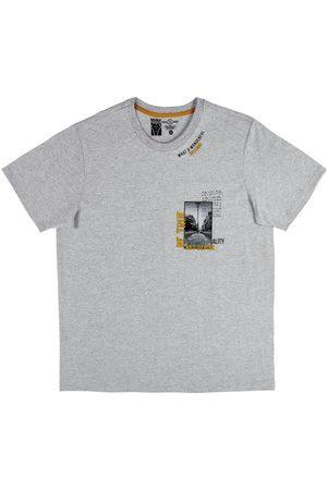 Fido Dido Homem Manga Curta - Camiseta em Meia Malha Estampada