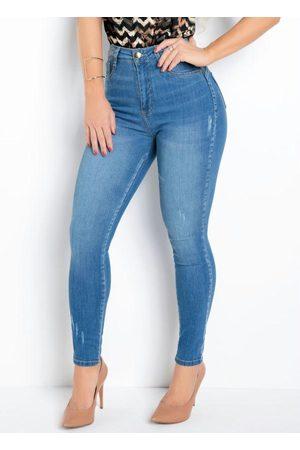 Sawary Jeans Mulher Modeladoras & Cintas - Calça Jeans Sawary 360 com Cinta Modeladora