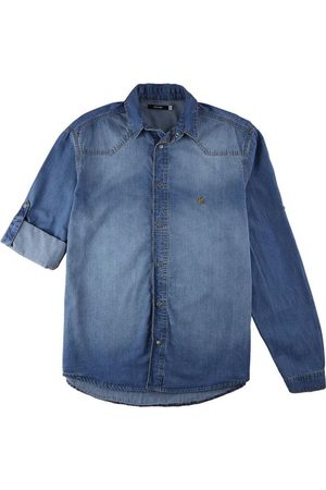 Malwee Camisa Slim Jeans com Bordado Masculina