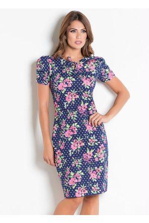 ROSALIE Vestido Floral com Amarração Moda Evangélica
