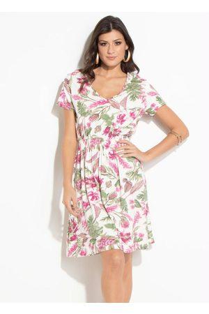 QUEIMA ESTOQUE Mulher Vestido Estampado - Vestido Quintess Floral com Elástico na Cintura