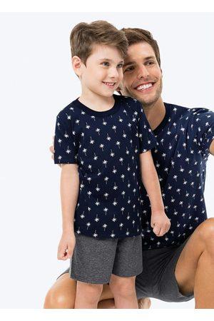 Malwee Menino Pijamas - Pijama Marinho Coqueiros Infantil Tal Filho