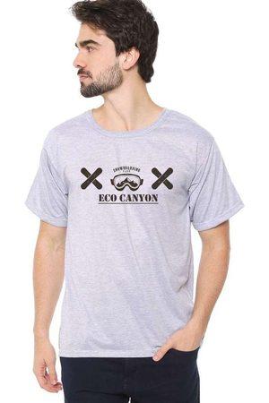 Eco Canyon Homem Manga Curta - Camiseta Masculina Snowboarding C