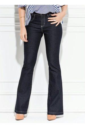 QUINTESS Calça Flare Jeans Escuro