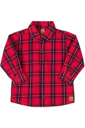 Up Baby Camisa Infantil Xadrez
