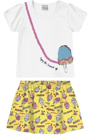 Rovitex Kids Menina Conjuntos - Conjunto Blusa com Saia