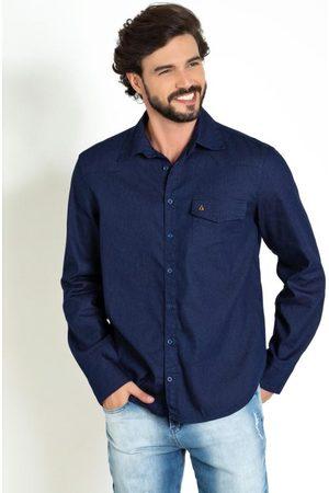 Actual Camisa com Bolso Funcional e Botões