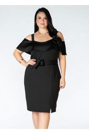 Mink Vestido Plus Size com Babado