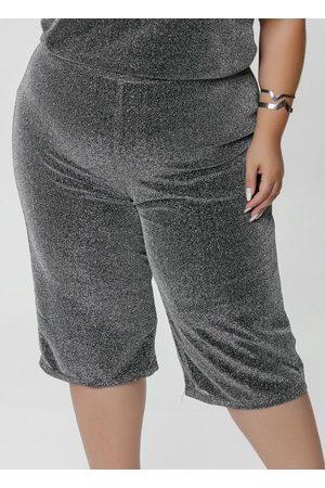 Mink Calça Capri Plus Size Curta