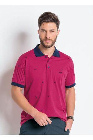 QUEIMA ESTOQUE Homem Camisa Formal - Camisa Polo Pink e Marinho em Algodão