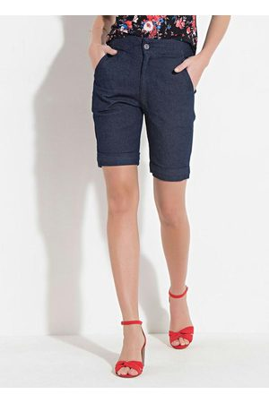 QUINTESS Mulher Bermuda - Short Jeans com Bolsos Laterais