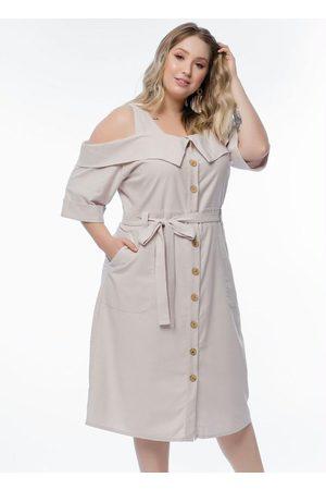 Mink Vestido Plus Size Linho