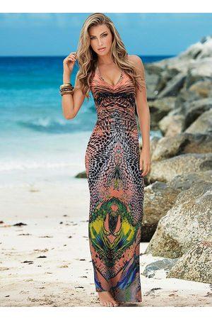 QUEIMA ESTOQUE Mulher Vestido Longo - Vestido com Detalhe nas Costas