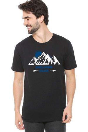 Eco Canyon Homem Manga Curta - Camiseta de Algodão Masculina Explore C