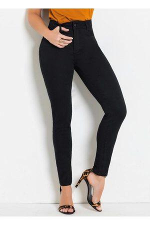 Sawary Jeans Calça Compressora Preta Skinny