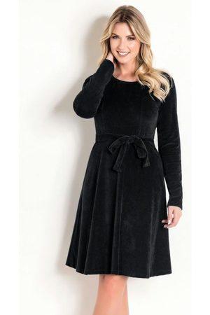 ROSALIE Vestido em Plush Moda Evangélica