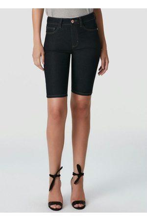 Malwee Bermuda Escuro Ciclista Jeans com Elastano
