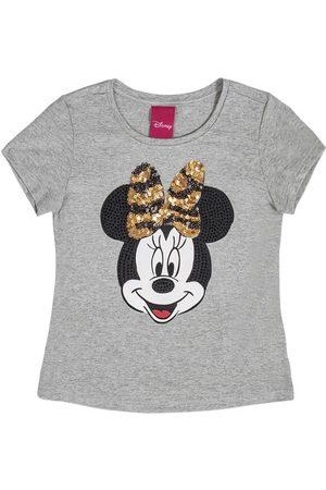 Disney Menina Camiseta - Blusa em Viscose com Lantejoulas