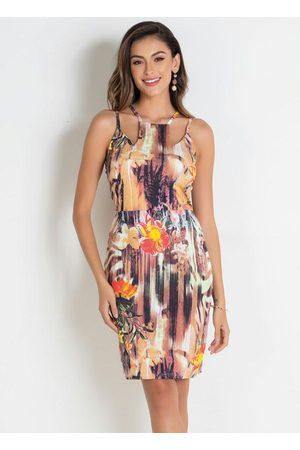 QUEIMA ESTOQUE Vestido Floral Tubinho com Alças
