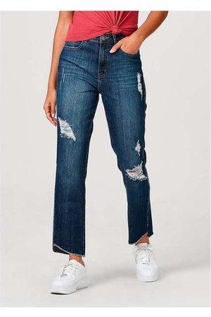 Hering Calça Feminina em Jeans de Algodão Destroyed