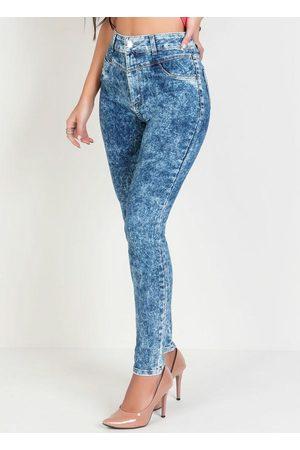 Sawary Jeans Calça Sawary Skinny Marmorizada Jeans