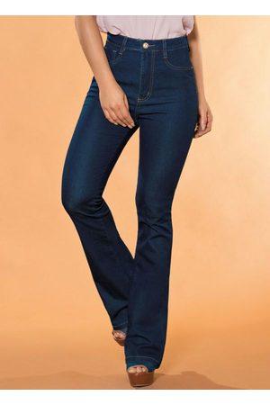 Sawary Jeans Mulher Calça Flare - Calça Super Lipo