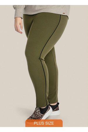 Vinculo Basic Legging Plus Size com Contraste Lateral