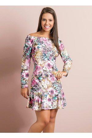 QUEIMA ESTOQUE Menina Vestido Estampado - Vestido Floral Juvenil Modelo de Sino
