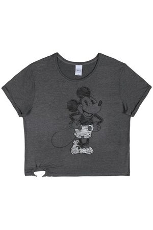 Disney Mulher Camiseta - Blusa com Lantejoulas Cinza5920654