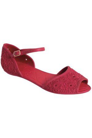 QUEIMA ESTOQUE Mulher Sandálias - Rasteirinha Vermelha Full Plastic