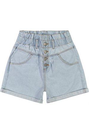 ENFIM Mulher Short - Shorts Clochard Jeans Délavé