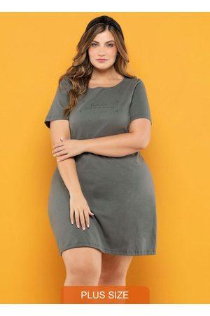 Vinculo Basic Mulher Vestidos - Vestido Plus Size Granito