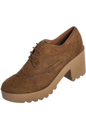 QUEIMA ESTOQUE Mulher Oxford & Brogue - Sapato Oxford Caramelo Sola Tratorada