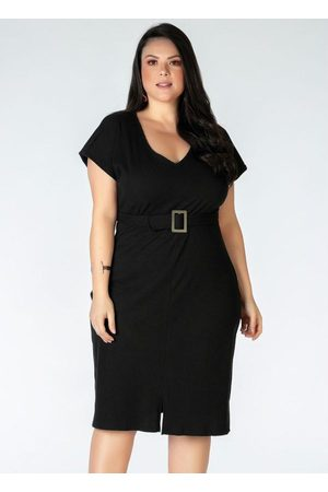 Mink Vestido Plus Size em Ribana Canelada