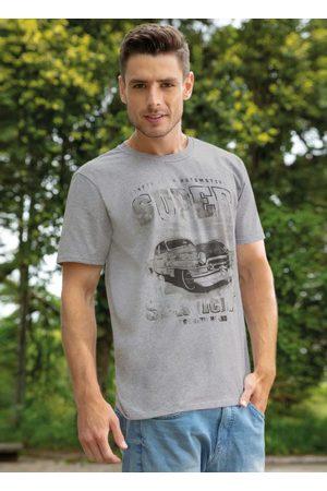 QUEIMA ESTOQUE Homem Manga Curta - Camiseta Estampa Frontal