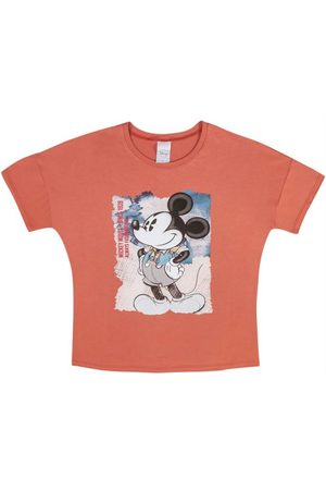 Disney Mulher Manga Curta - Blusa Feminina Adulto Estampada