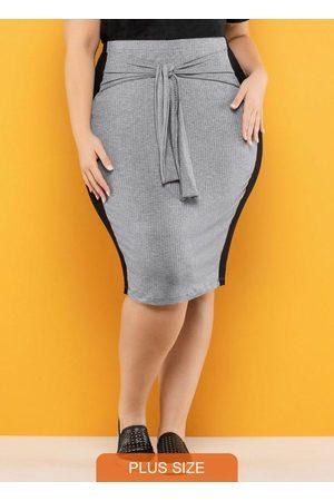 Vinculo Basic Mulher Saia Midi - Saia Plus Size Amarração Mescla